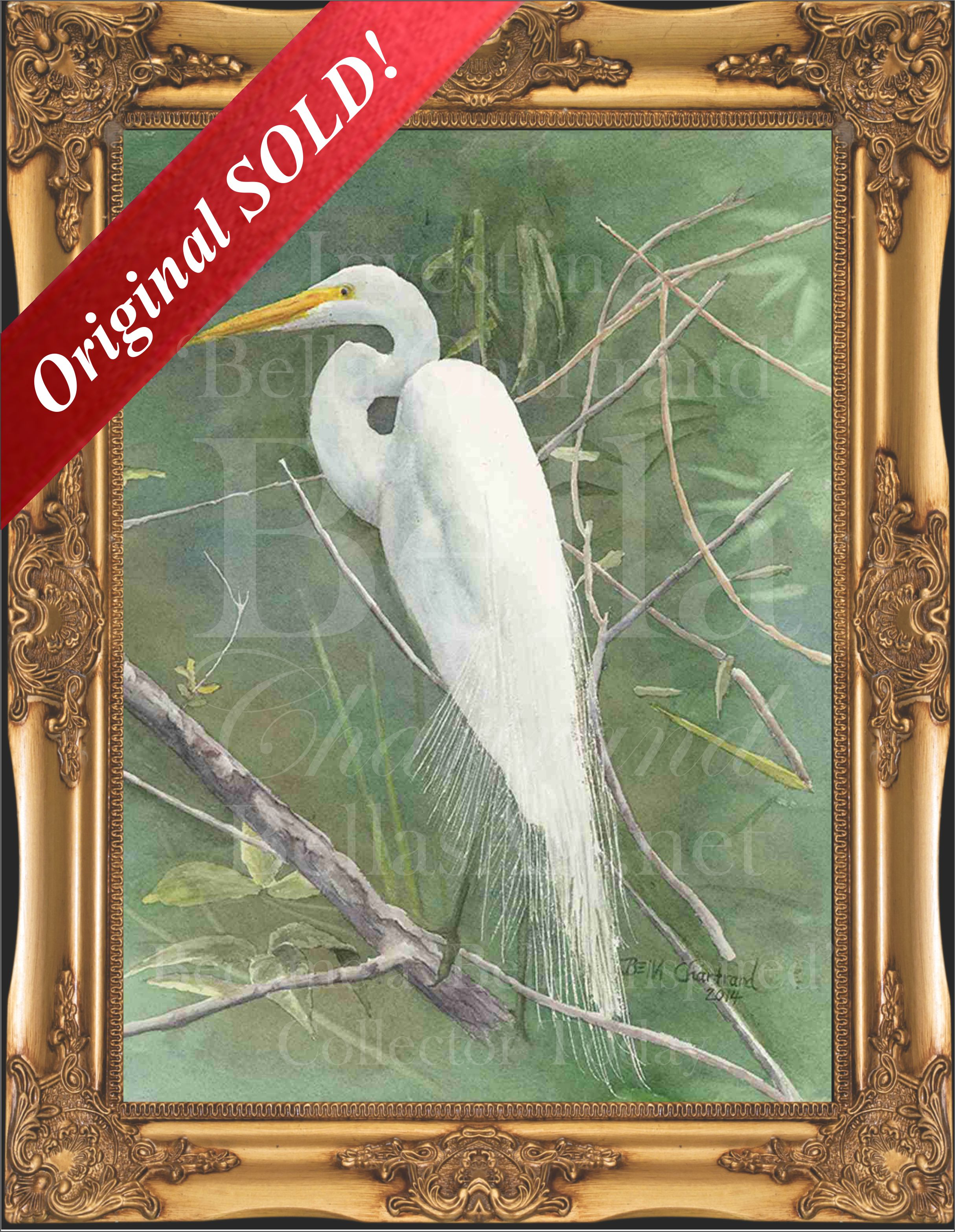 Egret-Watercolor Painting by Bella Chartrand from Survival Reality TV Show Utopia