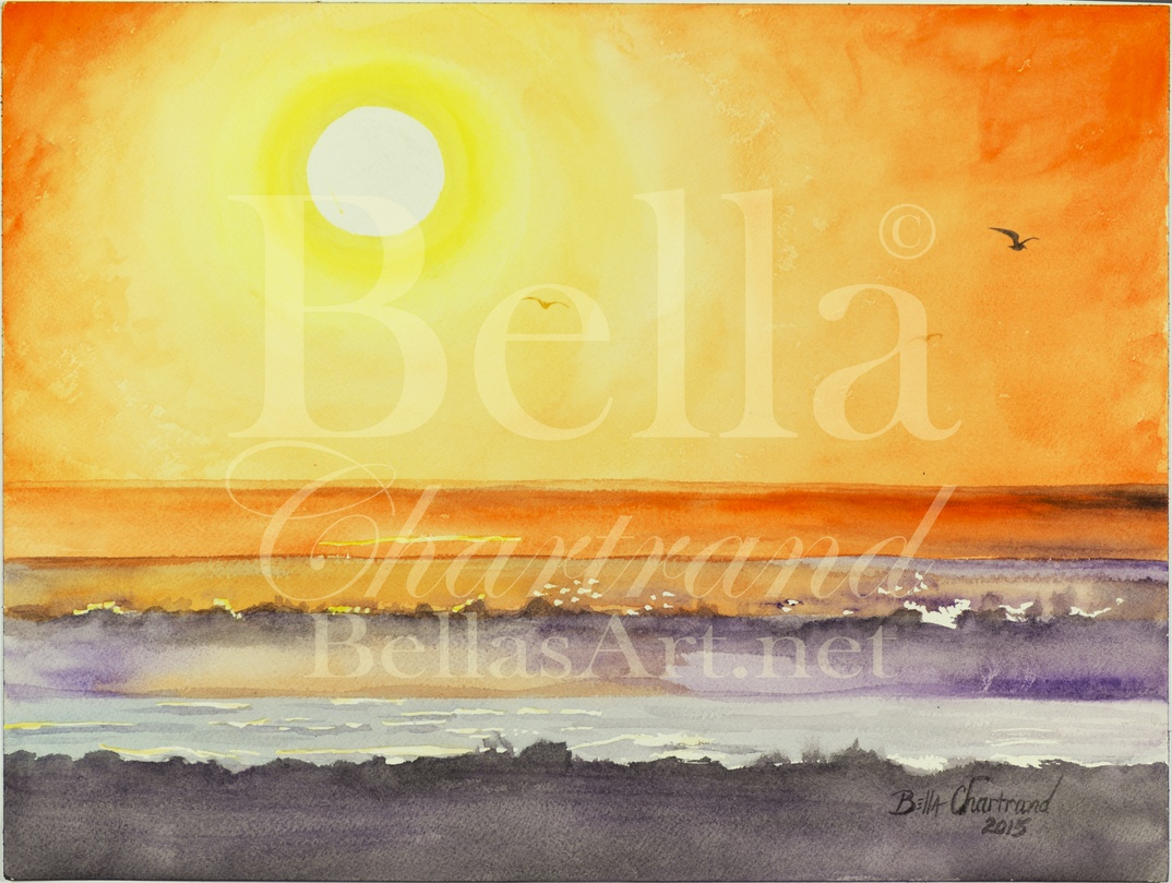 """Mourning Flight"" from Bella Inspired Seascape Collection by Bella Chartrand from Utopia USA"