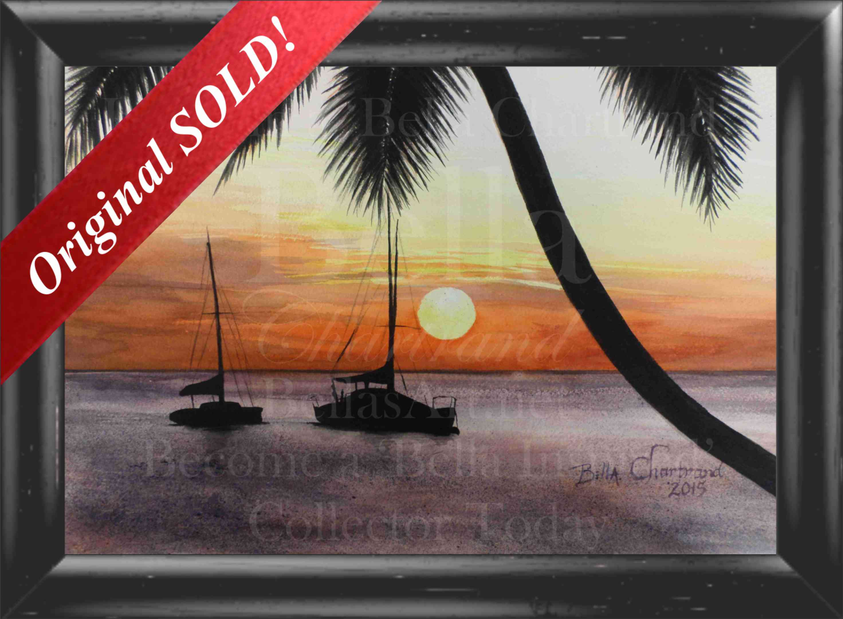 """Sunset View"" from Bella Inspired Seascape Collection by Bella Chartrand from Utopia USA"
