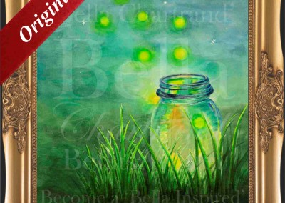 Fireflies_Watercolor_Painting_Bella Chartrand Survival Reality TV Show Utopia