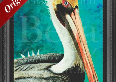 Spike_the_Pelican_Watercolor_Painting_Bella Chartrand Survival Reality TV Show Utopia