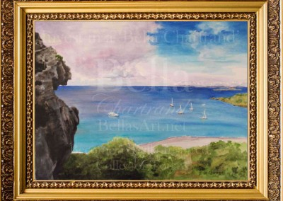 Anse_a_Colombier_Watercolor_Painting_Bella Chartrand Survival Reality TV Show Utopia
