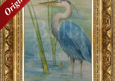 Bella Blue Heron_Watercolor_Painting_Bella Chartrand Survival Reality TV Show Utopia