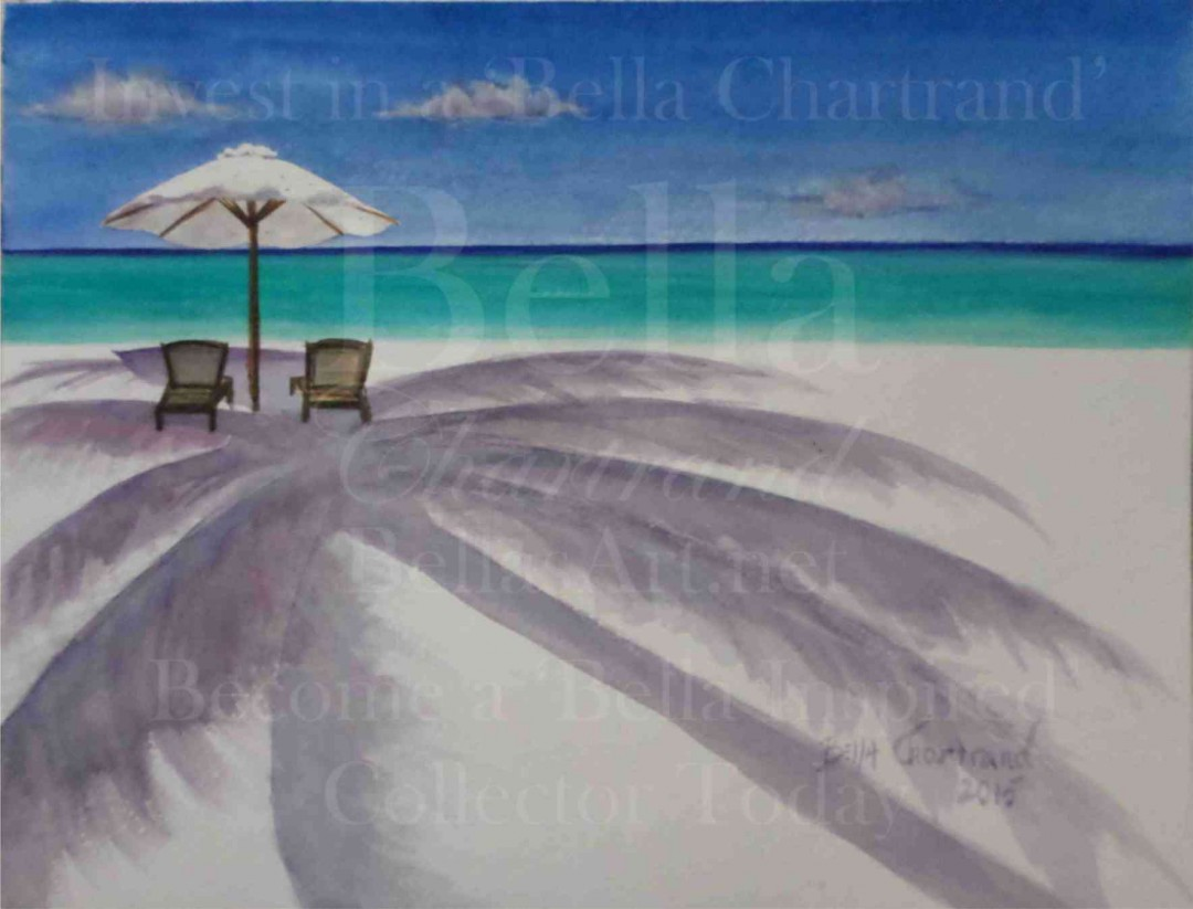 Cool Breeze Under the Palm from Bella Inspired Seascape Collection by Bella Chartrand from Utopia USA