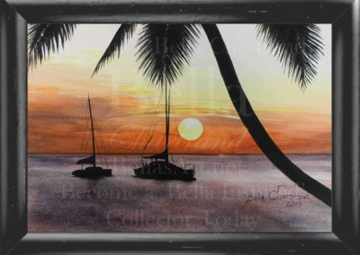 Sunset_View_Watercolor_Painting_Bella Chartrand Survival Reality TV Show Utopia