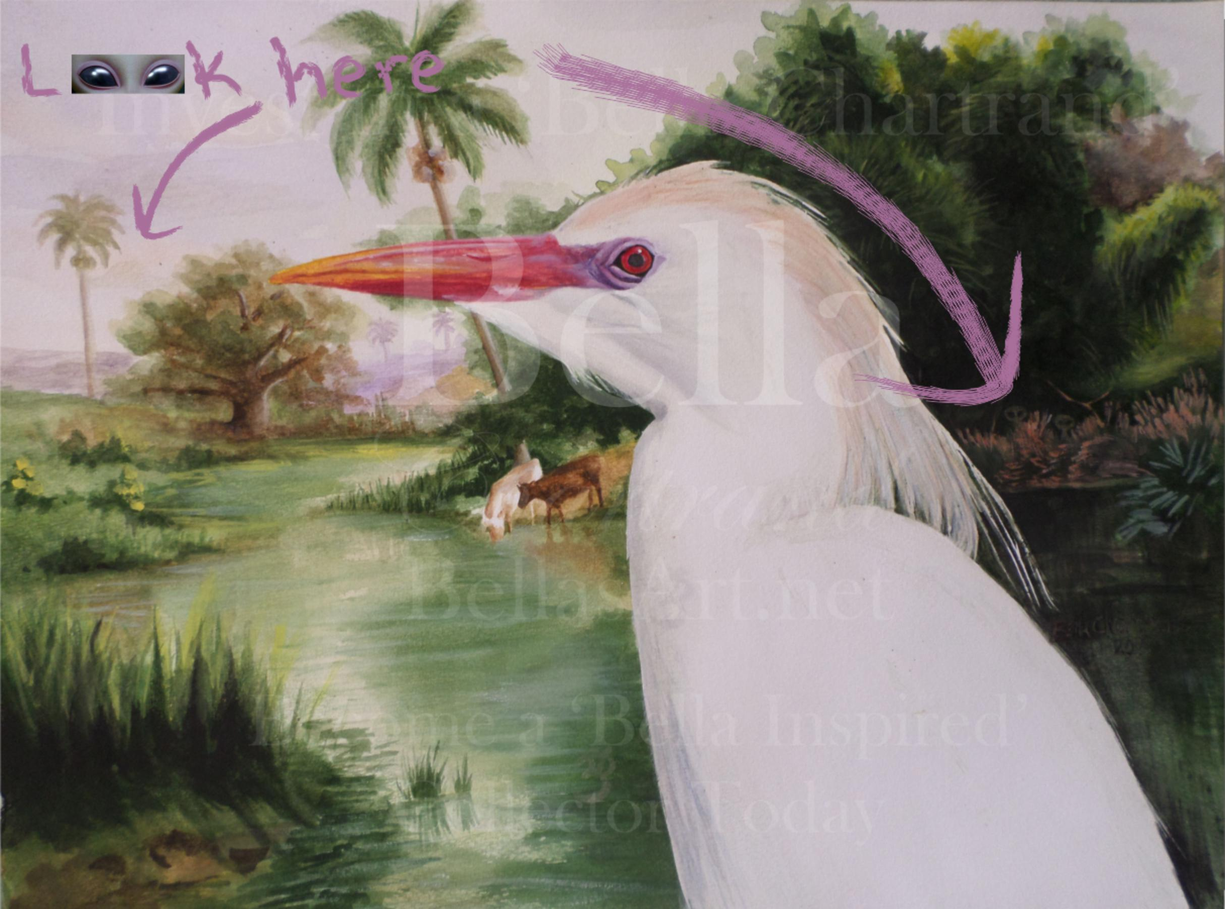 Rainbow Cattle Egret from Bella Inspired Wildlife Collection by Bella Chartrand from Utopia USA