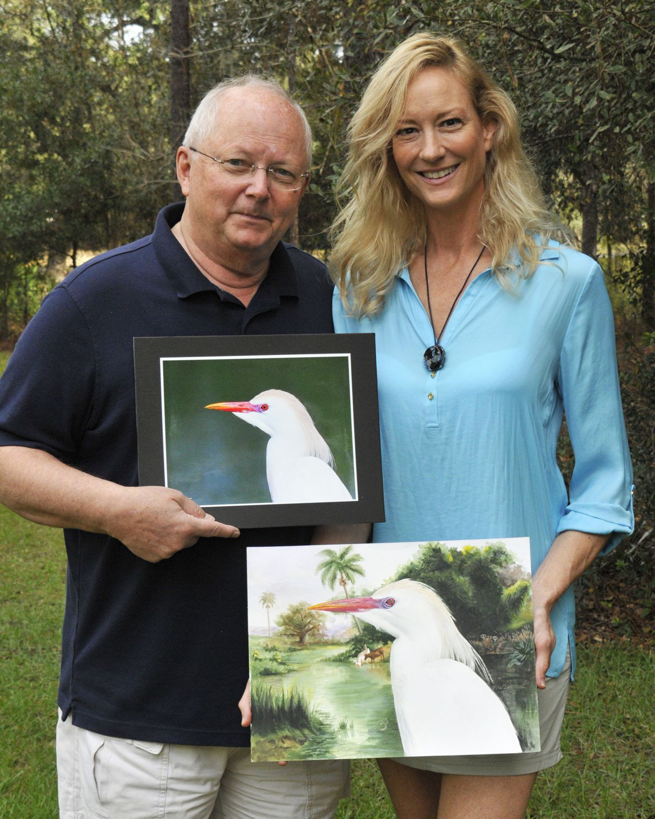 Rainbow Cattle Egret from Bella Inspired Wildlife Collection by Bella Chartrand from Utopia USA and Scott Hodlmair