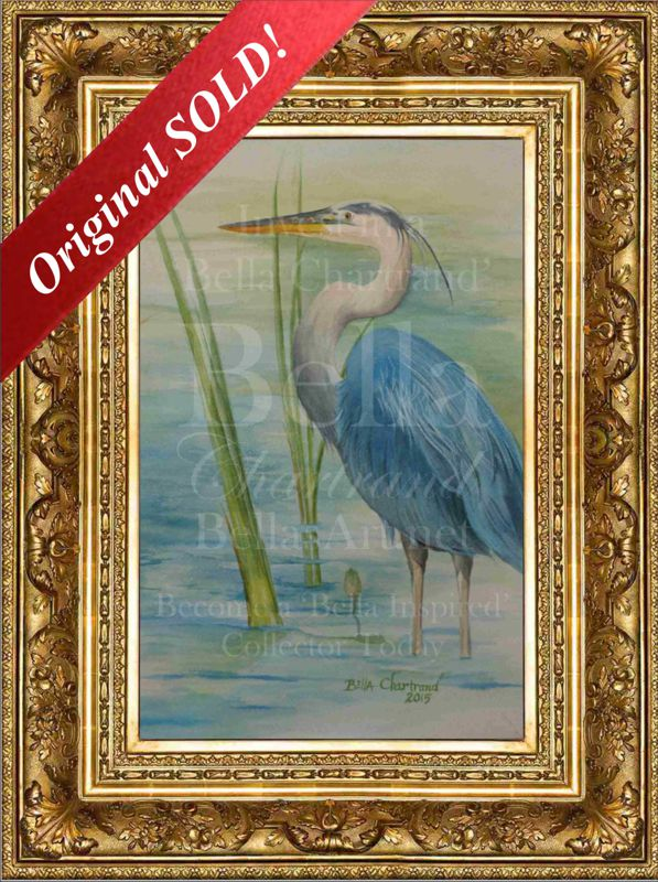 Bella_Blue_Heron-Watercolor Painting by Bella Chartrand from Survival Reality TV Show Utopia