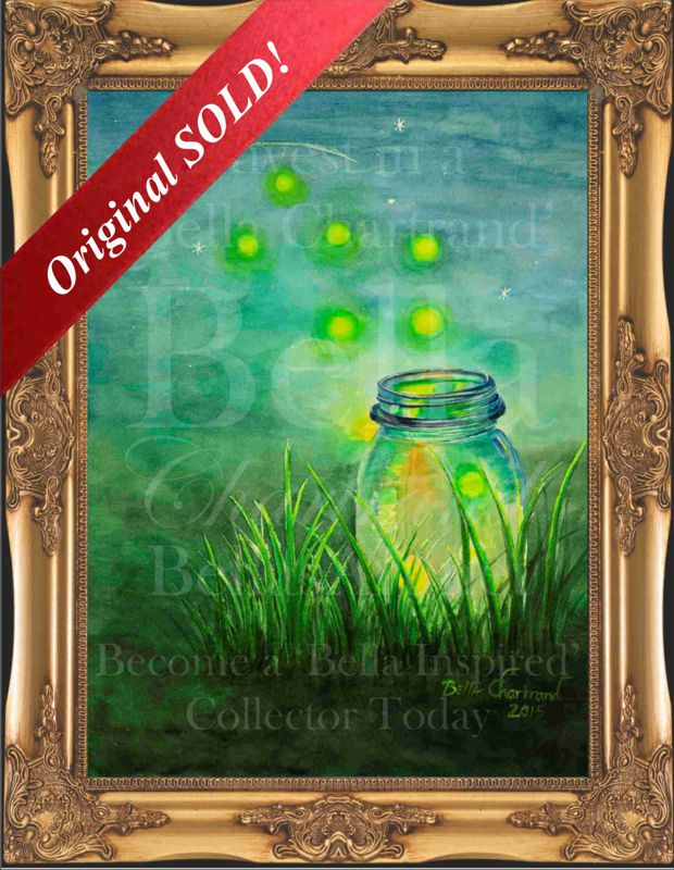 Fireflies-Watercolor Painting by Bella Chartrand from Survival Reality TV Show Utopia